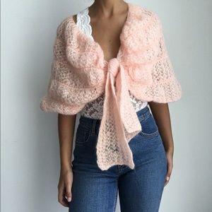 Montessa vintage vest shawl virgin wool/mohair